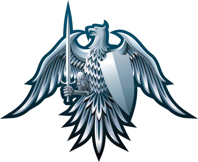 Águia do ferro ilustração royalty free