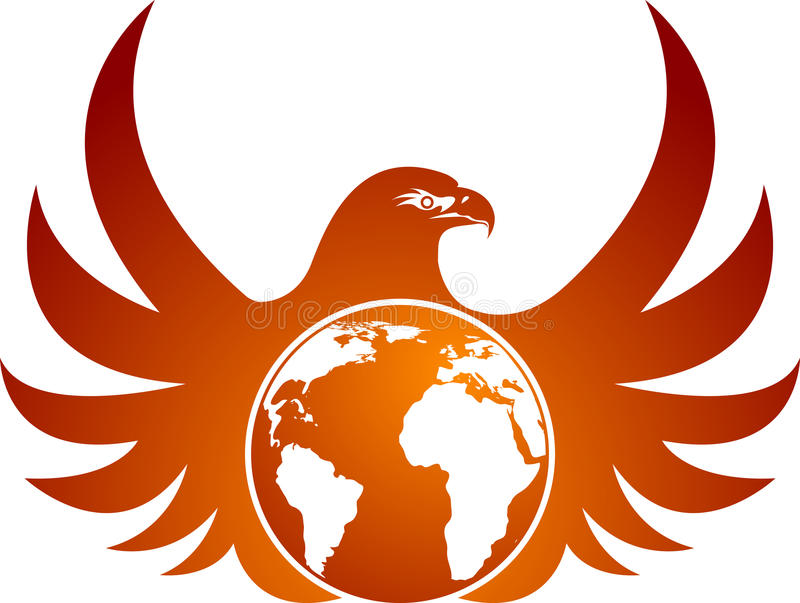 Águia do globo ilustração do vetor