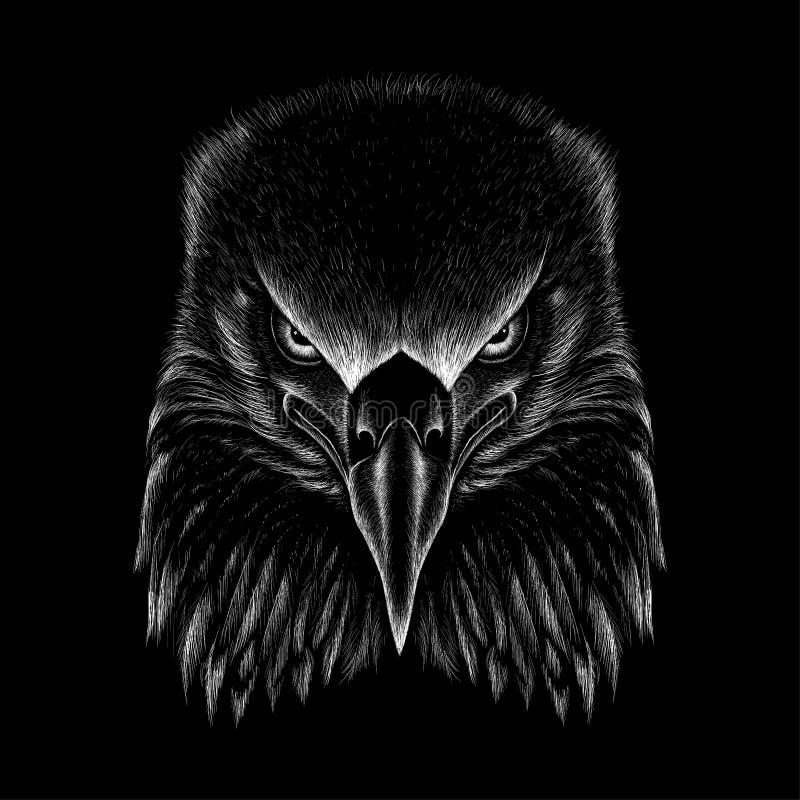 A águia do logotipo do vetor para o projeto do t-shirt Caçando a águia do estilo ilustração royalty free