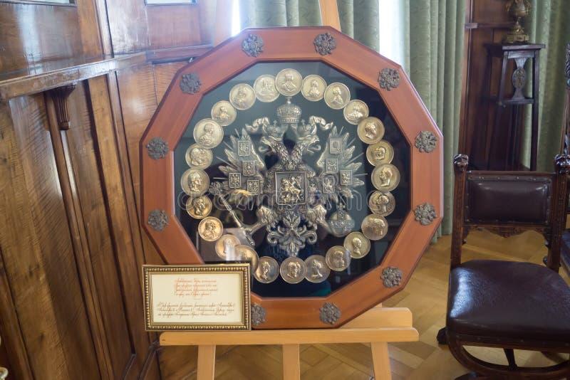 águia Dobro-dirigida no escritório do palácio de Livadia foto de stock royalty free