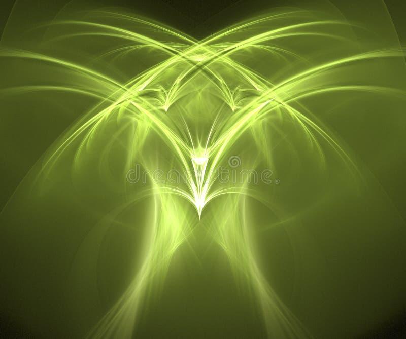 Águia - fractal gerado ilustração royalty free