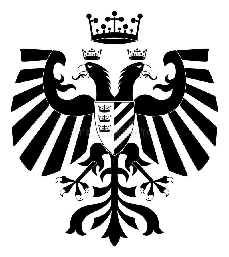 águia heráldica Dobro-dirigida #2 ilustração royalty free