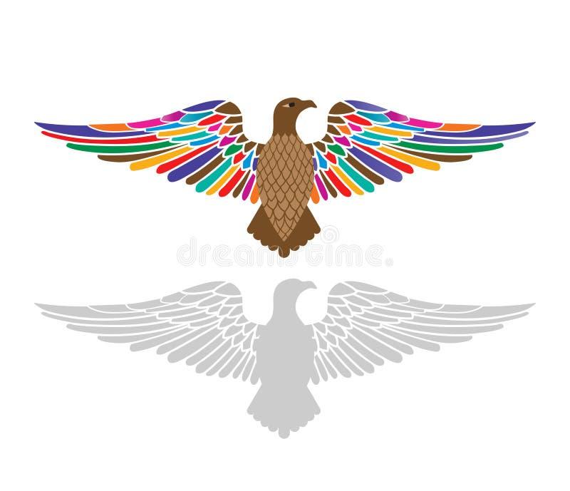 Águia majestosa com propagação das asas ilustração stock