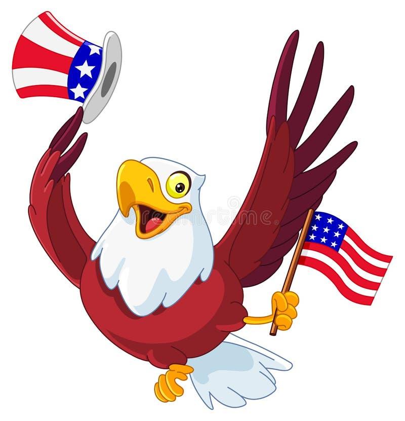 Águia patriótica americana ilustração stock