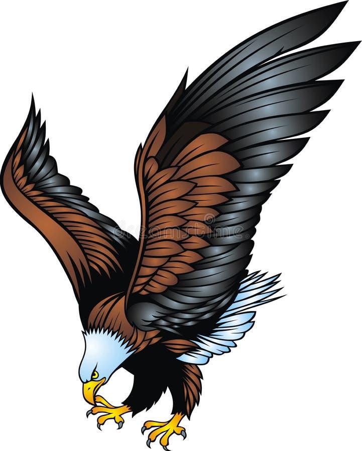 Águila agradable aislada stock de ilustración