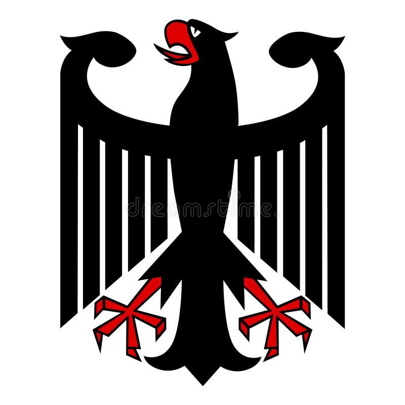 Águila alemana ilustración del vector