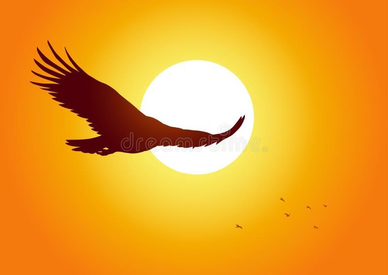Águila altísima stock de ilustración