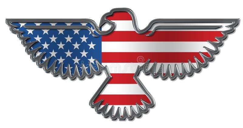 Águila de la guerra ilustración del vector