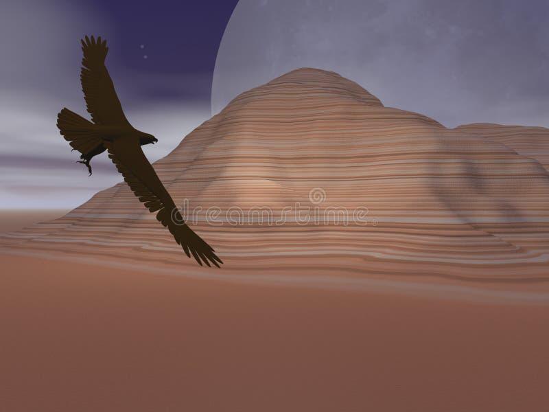 Águila de la luna del desierto libre illustration