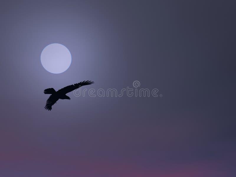 Águila de la niebla stock de ilustración
