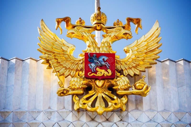 Águila de oro cerca del Kremlin en Moscú, Rusia fotografía de archivo libre de regalías