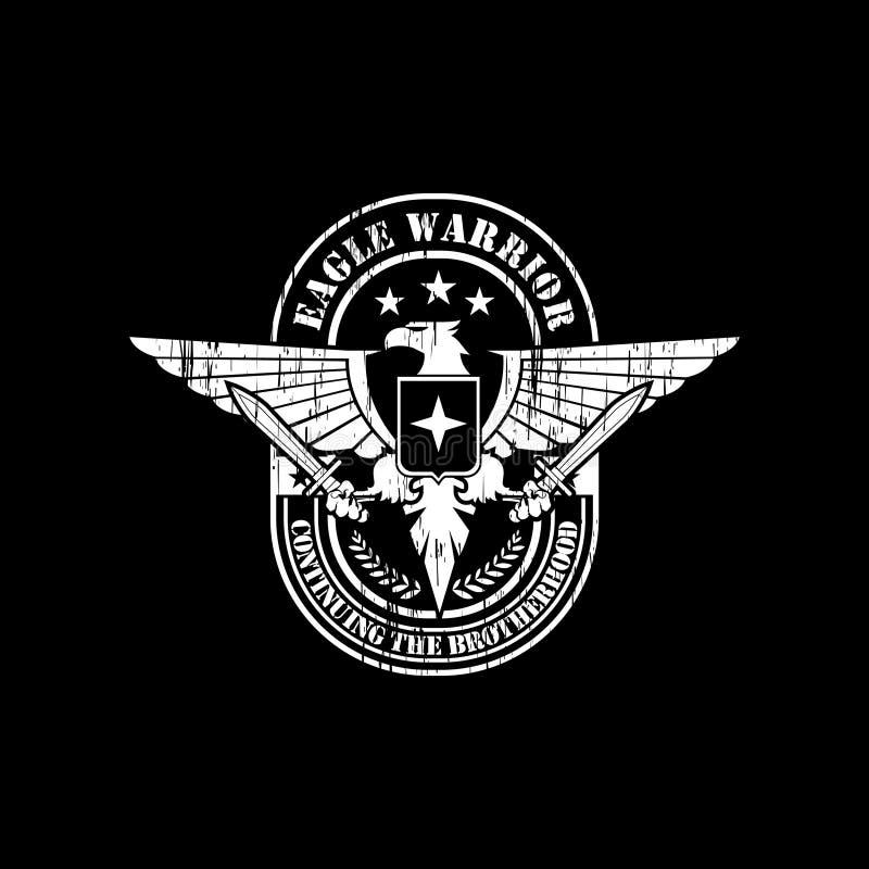 Águila del estilo del extracto y del grunge con vector de la espada libre illustration