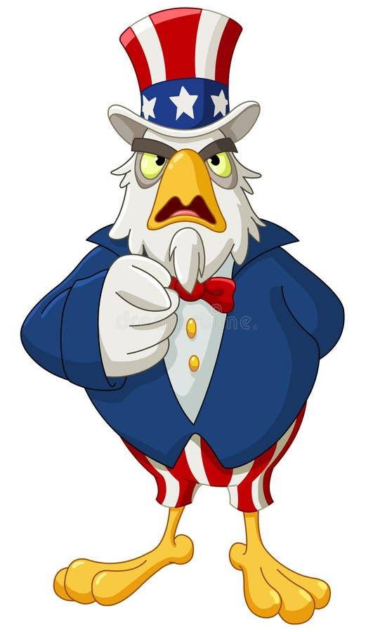 Águila del tío Sam ilustración del vector
