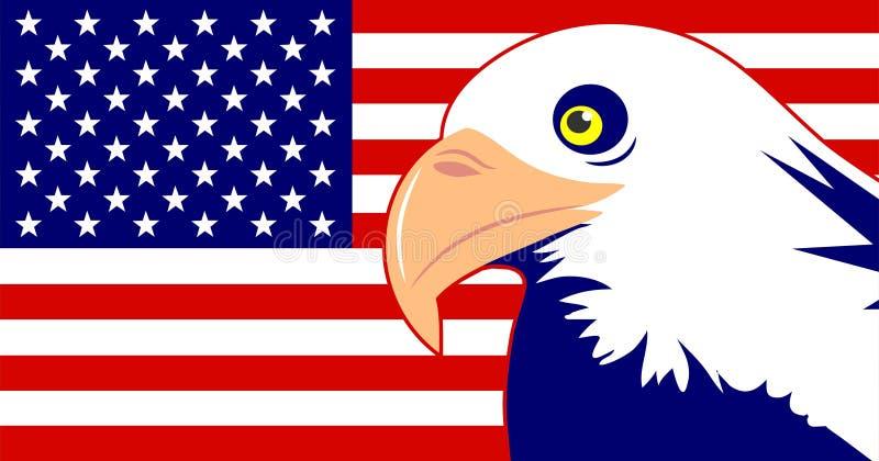 Águila e indicador stock de ilustración