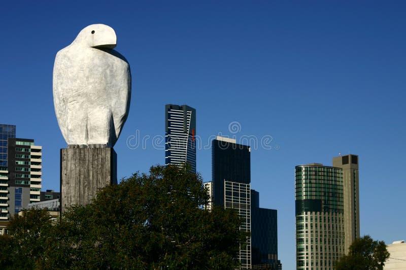 Águila en Melbourne imagenes de archivo