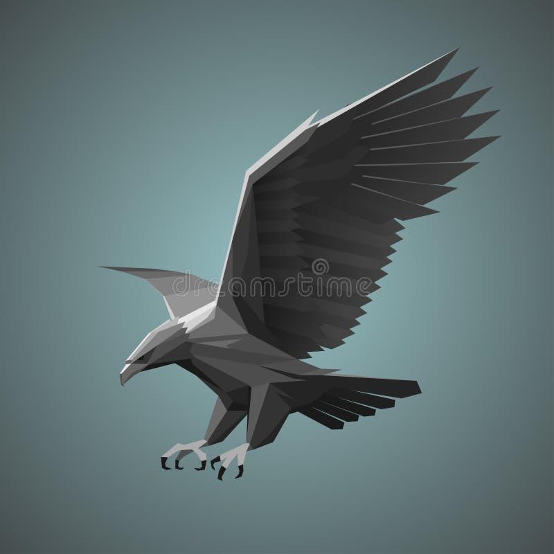 Águila gris geométrica libre illustration