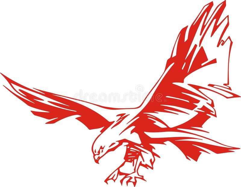 Águila llameante ilustración del vector