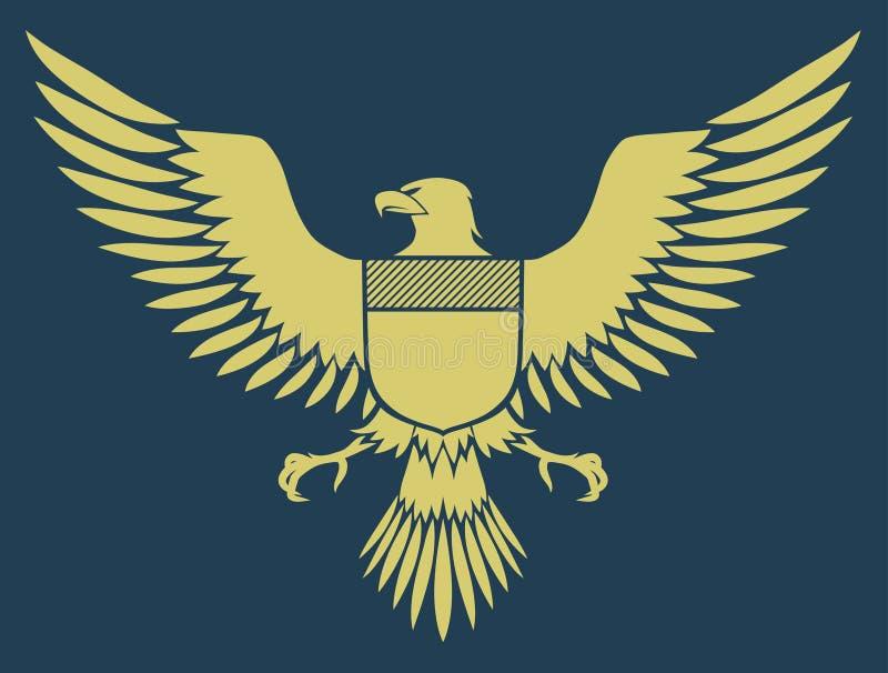 Águila medieval stock de ilustración