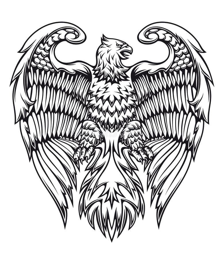Águila o grifo de gran alcance libre illustration