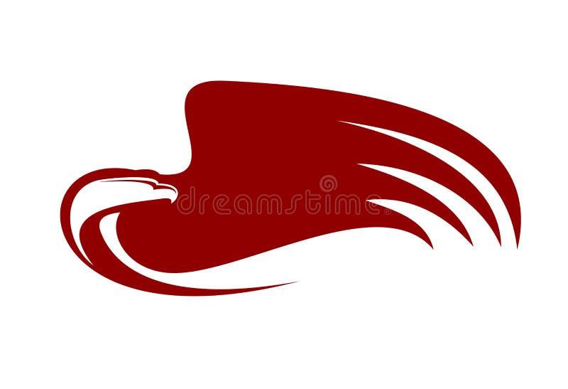 Águila potente stock de ilustración