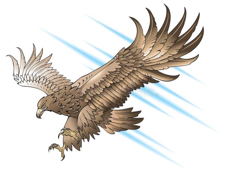 Águila que ataca ilustración del vector