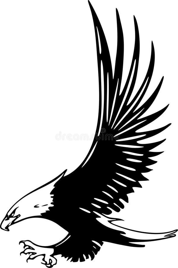 Águila que ataca stock de ilustración