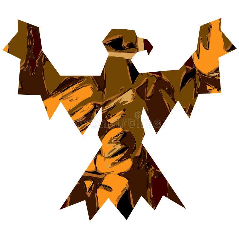Águila Textured ilustración del vector