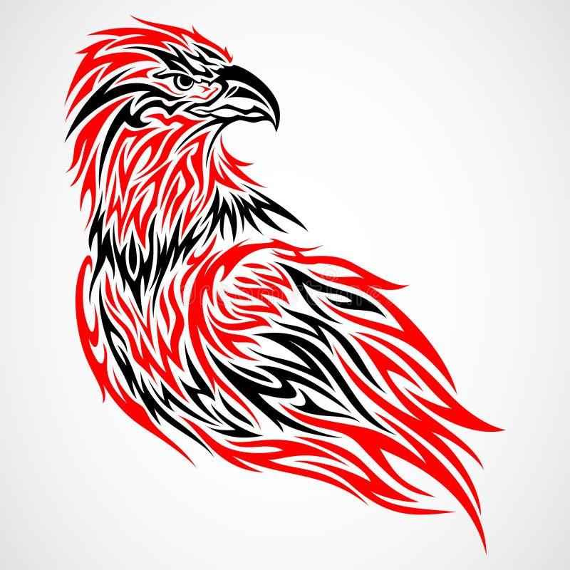 Águila tribal stock de ilustración