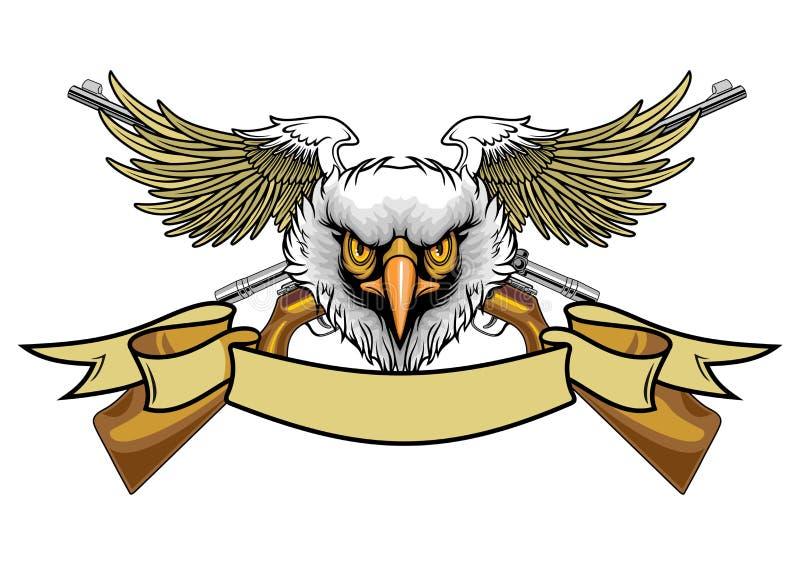 Águila y rifles quedados calvo libre illustration