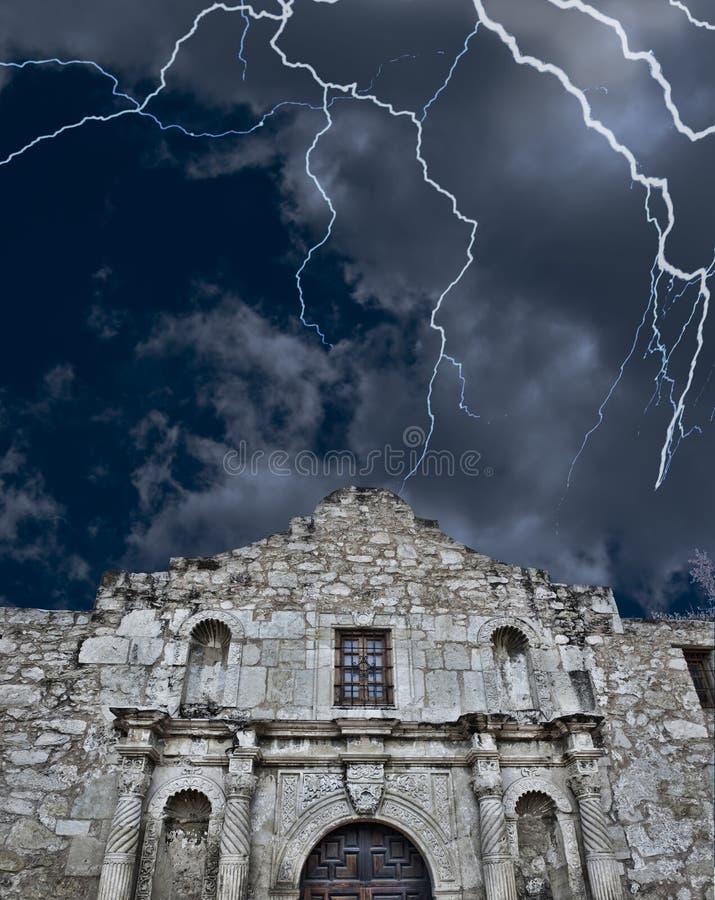 Álamo en San Antonio, Tejas imagen de archivo libre de regalías