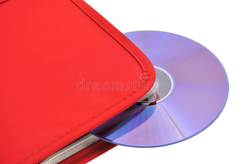 Álbum cd vermelho imagens de stock