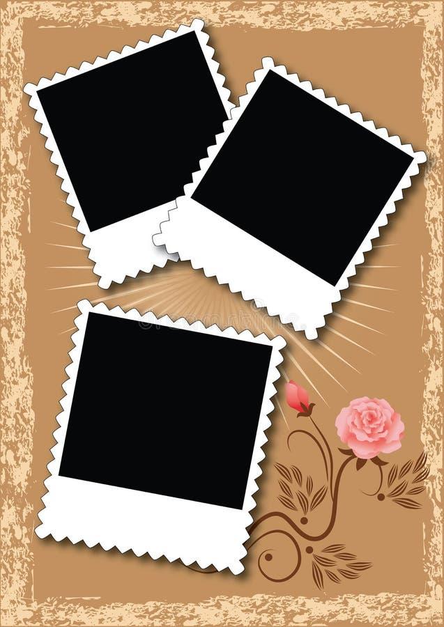 Álbum de foto da disposição de página ilustração royalty free