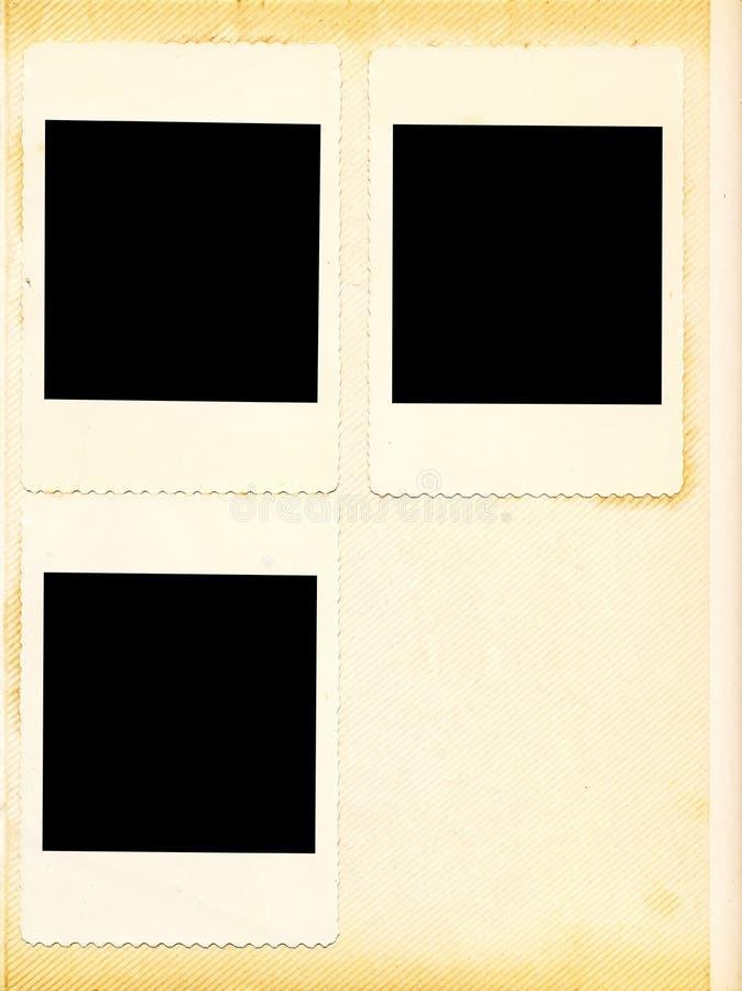Álbum de foto de la vendimia fotografía de archivo
