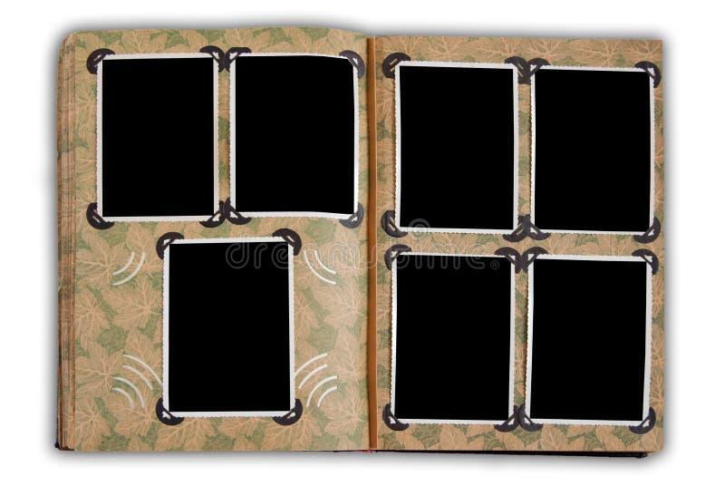 Álbum de foto de la vendimia con las fotos vacías foto de archivo