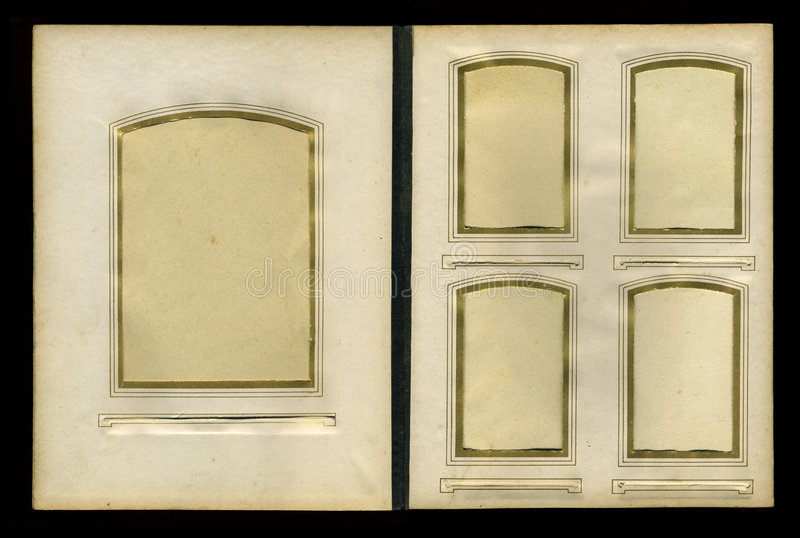 Álbum de foto de la vendimia a partir de 1900s imagen de archivo libre de regalías