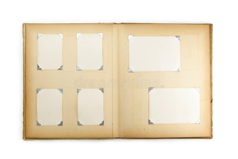 álbum de foto de los años 50, aislado en blanco. fotografía de archivo