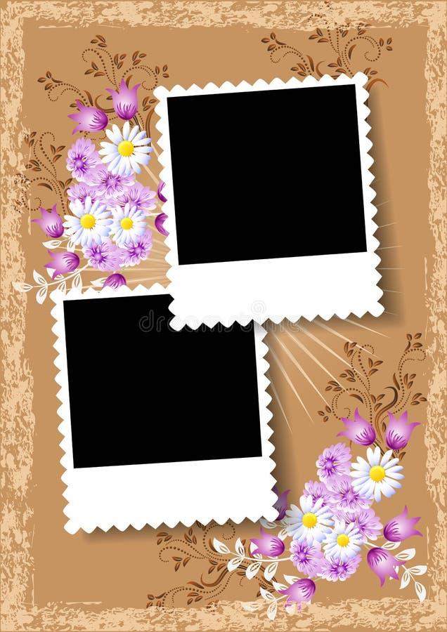 Álbum de foto del diseño de página stock de ilustración