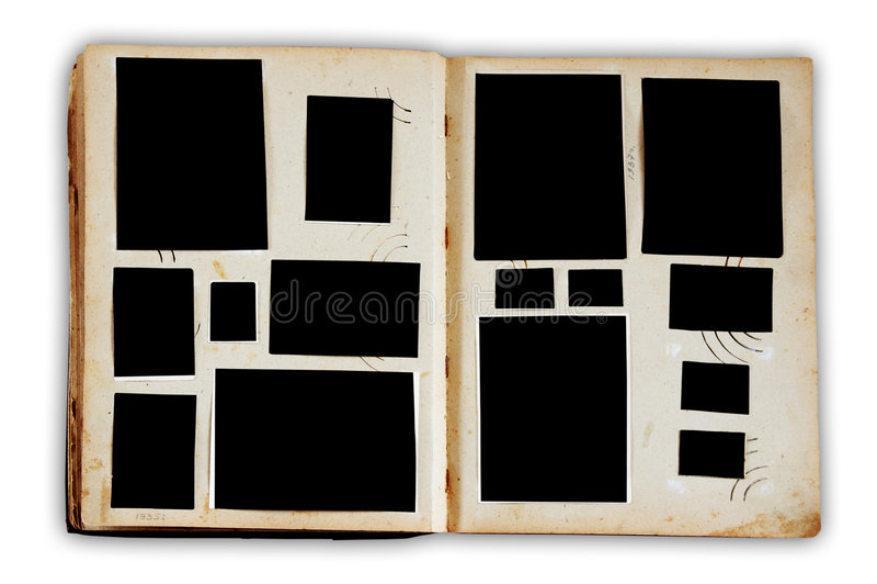 Álbum de foto do vintage fotografia de stock