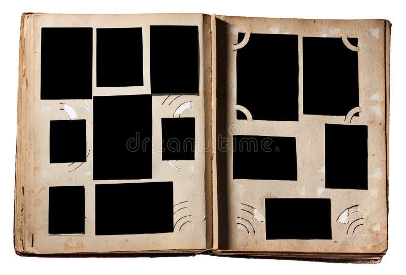 Álbum de fotografias velho imagens de stock