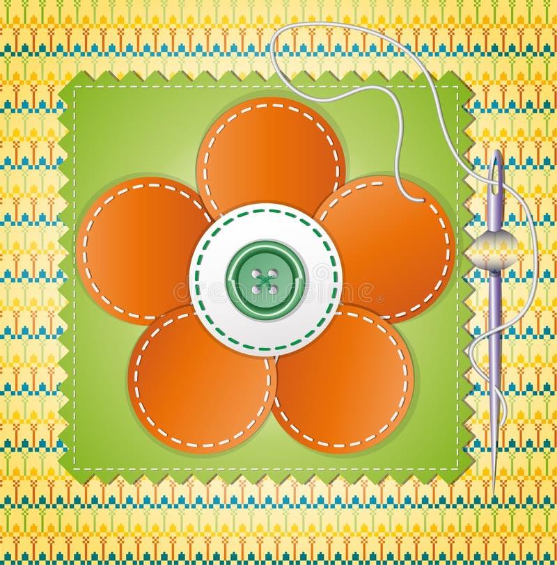 Álbum de recortes colorido com flor. ilustração stock