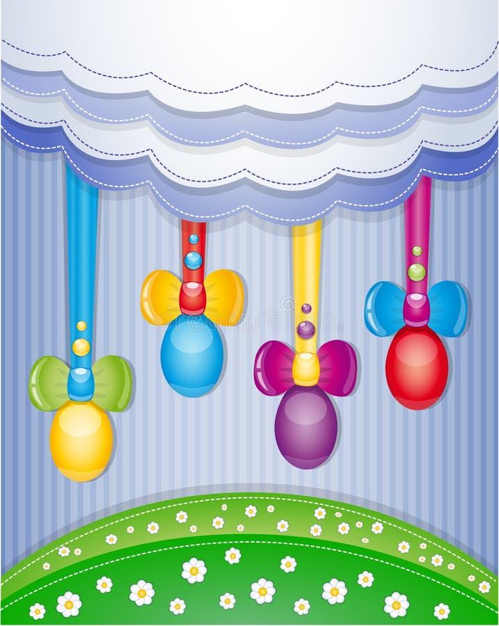 Álbum de recortes colorido com ovos. ilustração stock