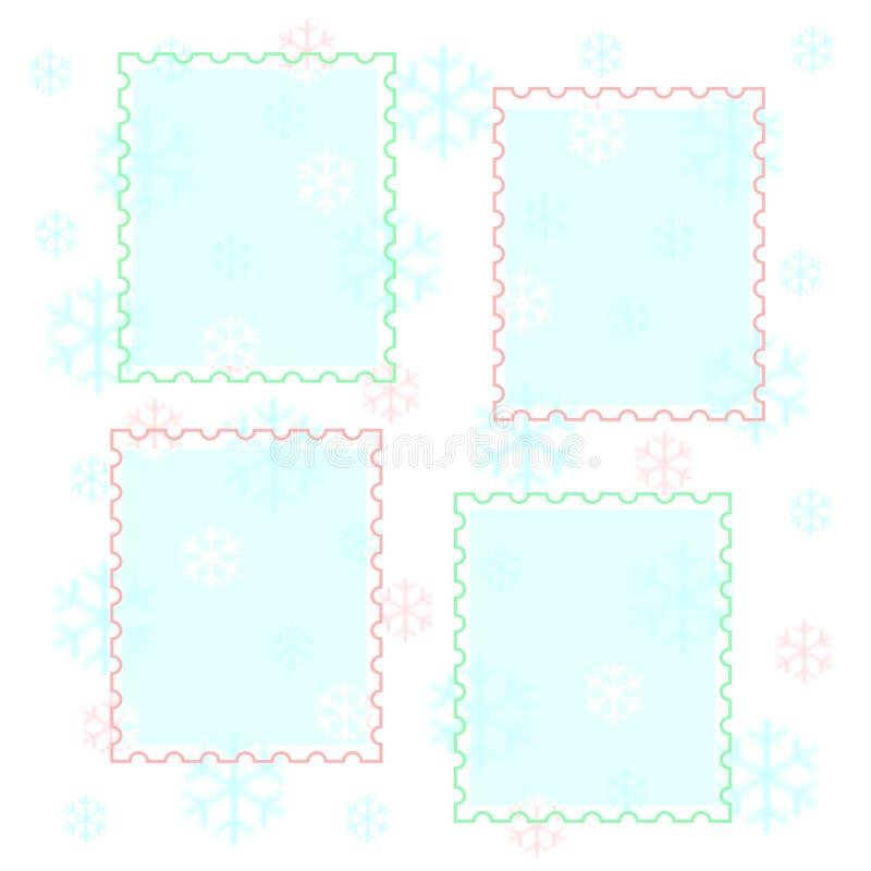Álbum de recortes Pastel dos flocos de neve ilustração royalty free