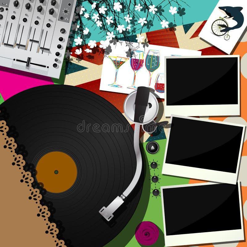 O DJ party o projeto ilustração royalty free