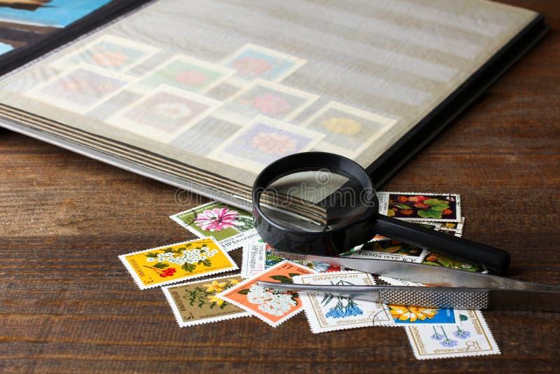 Álbum de selo foto de stock