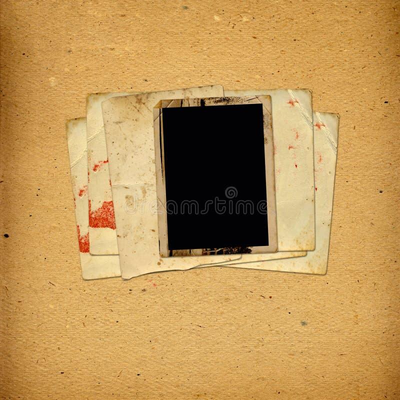 Álbum do vintage com quadros de papel para fotos foto de stock royalty free