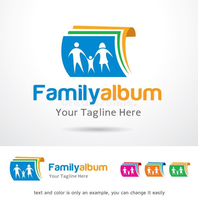 Álbum Logo Template Design Vetora da família ilustração stock