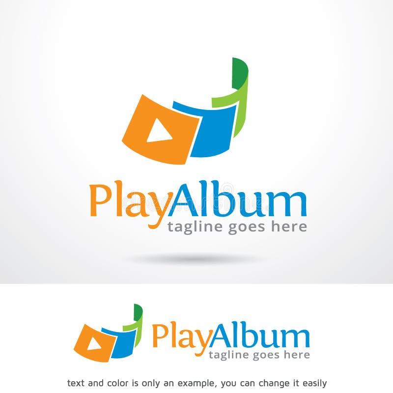 Álbum Logo Template Design Vetora do jogo ilustração royalty free