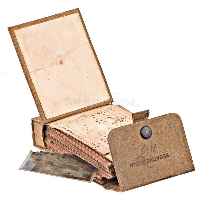 Álbum negativo viejo sucio fotografía de archivo libre de regalías