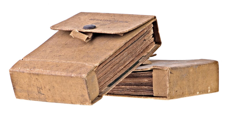 Álbum negativo viejo sucio imagen de archivo