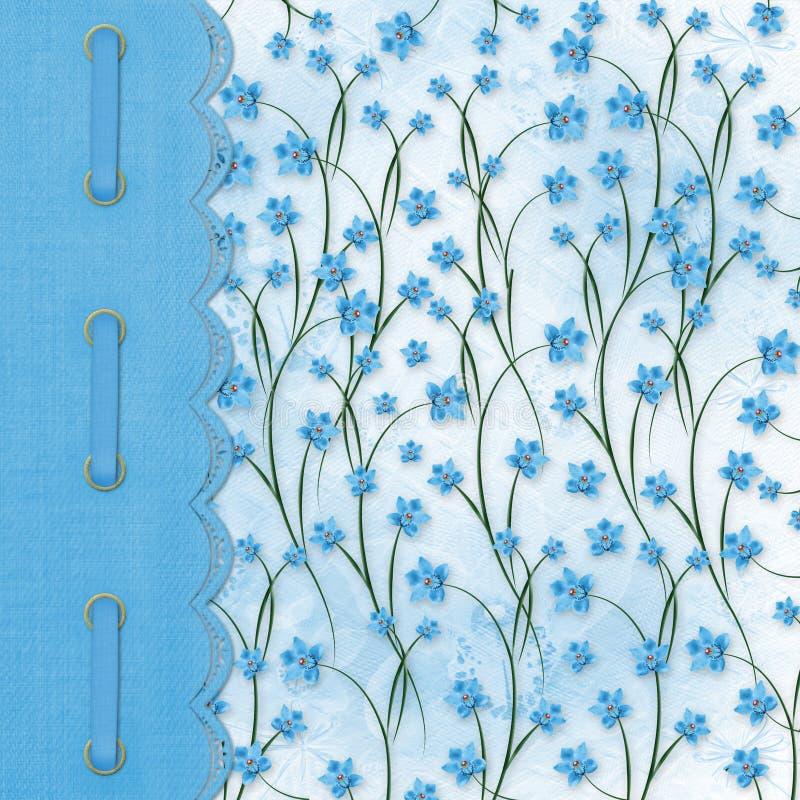 Álbum para fotos no fundo floral ilustração royalty free